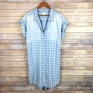 Cloth & Stone | Stonewash Gingham Chambray Dress